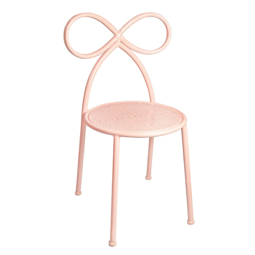 Bow Chair Blush Pink