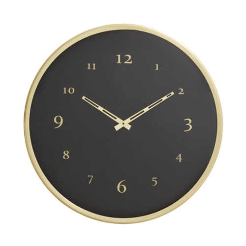 Wall clock (brass)