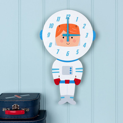 Astronaut Wooden Wall Clock
