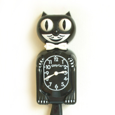 Kit Cat Clock Black (Classic)