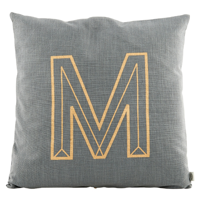 Letter M Cushion Cover