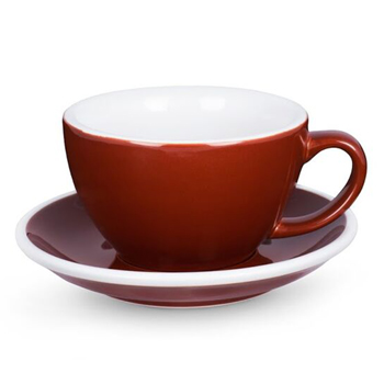 Acme Latte cup & saucer (Brown)
