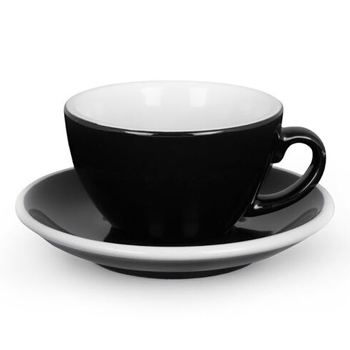 Acme Latte cup & saucer (Black)