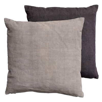 Cushion Cover Gray (Set of 2)
