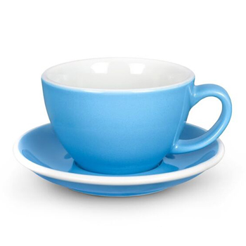 Acme Latte cup & saucer (Blue)