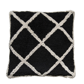 Berber Cushion Black