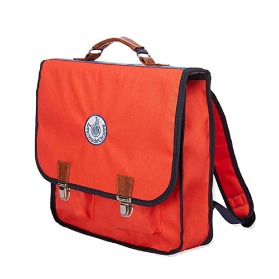 Cartable Rouge Bande Arc en Ciel (M)
