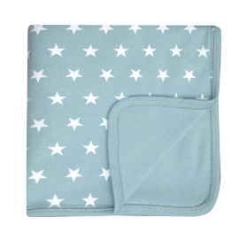 65% Misty Blue & White Star Blanket