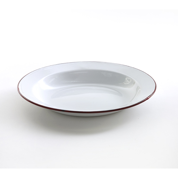 French Red edge plate 24cm