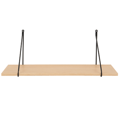 Shelf W. Iron Hanger Oak