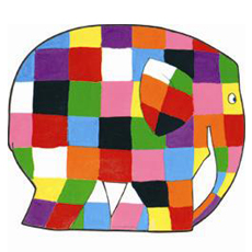 Elmer baby table mat