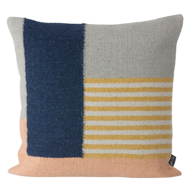 Kelim Cushion White Lines