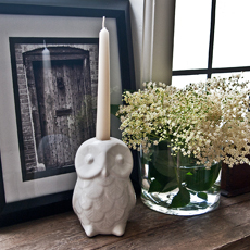 Denmark Ceramic Owl Candle stand