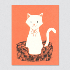 Basket cat card