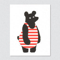 Bathing Bear card