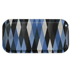 Diamond square tray Blue color