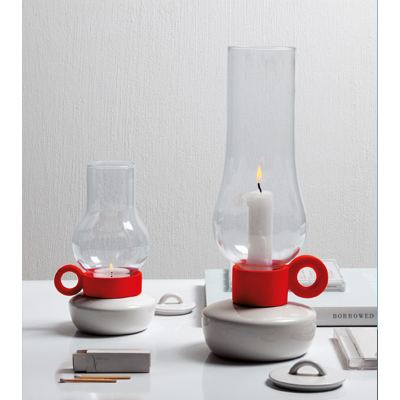 Lanterna Candle Holder White(L)