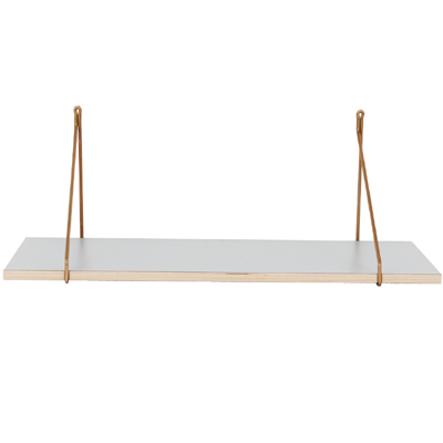 Shelf W. Iron Hanger Gray