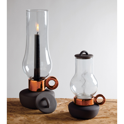 Lanterna Candle Holder Bronze(L)