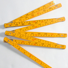 Professional Wooden Ruler (Yellow)