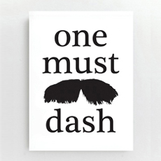 One must dash Card