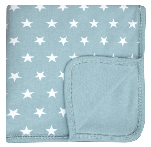 Misty Blue & White Star Blanket