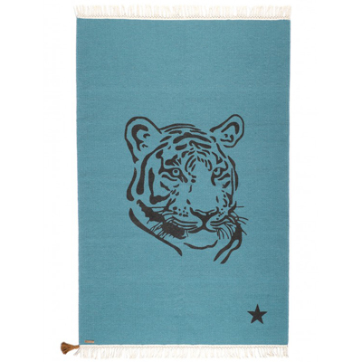 Gypsy Tiger Rug Blue