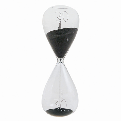 30% Si-Time Hourglass Blacksand