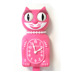 Kit Cat Clock Cherry Pink (Large Size)