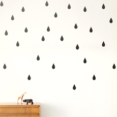 Mini Drops Wall Stickers Black