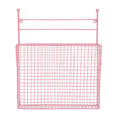 Wall Wire Basket Pink
