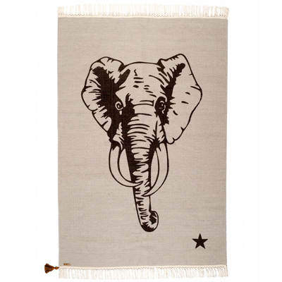 Gypsy Elephant Rug Gray