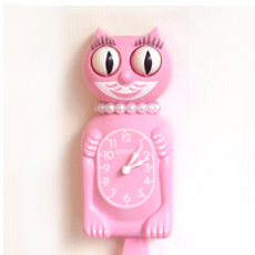 Kit Cat Clock Baby Pink (Limited)