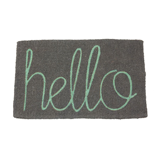 Doormat Hello Gray