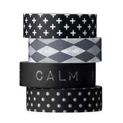 Black patterned Tape
