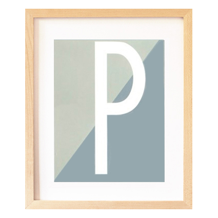P letter poster