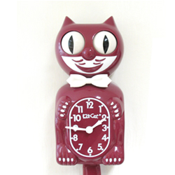Kit Cat Clock Burgundy (Large Size)