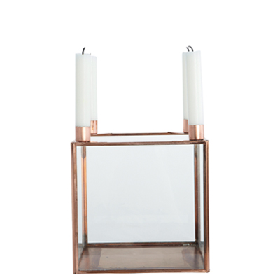 35% Square Candle Holder Copper (L)