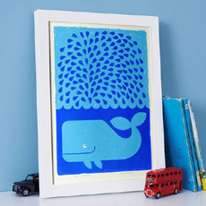 Splashing Whale Poster
