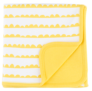 White & Sunshine Yellow Bunting Blanket