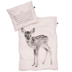Deer baby bedding set soft pink