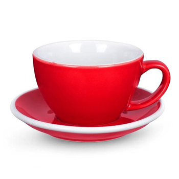 20% Acme Latte cup & saucer (Red)