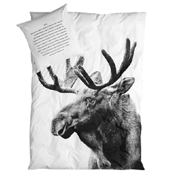 Moose queen bedding set