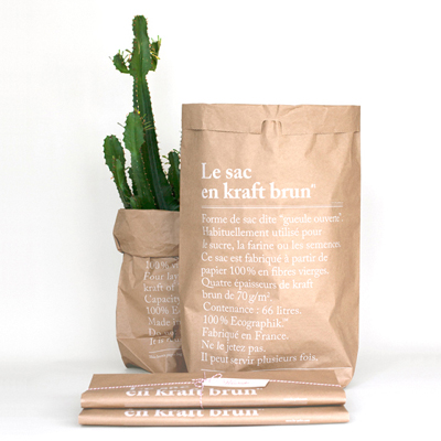 40% Paper Bag Brown (Le sac en Kraft Brun)