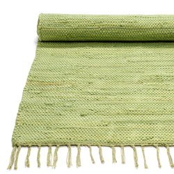 30% Handmade cotton rug Olive green