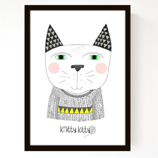 Knitty Kitty Poster