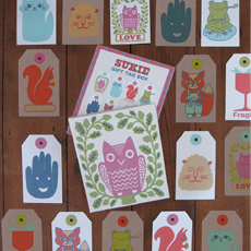 Gift tag in box (32 pcs)