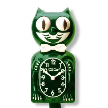 Kit Cat Clock Hunter Green (Large Size)