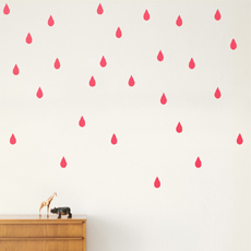 35% SALE! Mini Drops Wall Stickers Neon