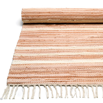 Pale Pink offwhite stripe Rug